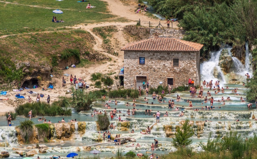 Hot springs in Saturnia offer a healthy lifestyle in Tuscany