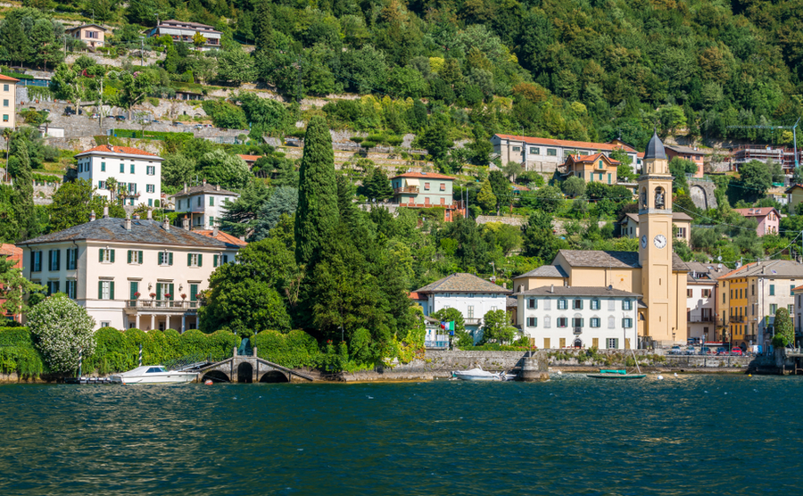 The Clooneys' Villa Oleandra, on Lake Como.