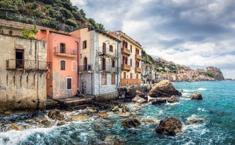 Abandoned homes in a Calabria fishing village