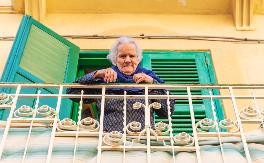 Italians have been socialising across their balconies. Emily Marie Wilson / Shutterstock.com