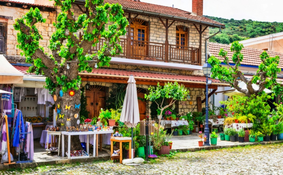 Tavernas are great places to enjoy traditional Cypriot food.