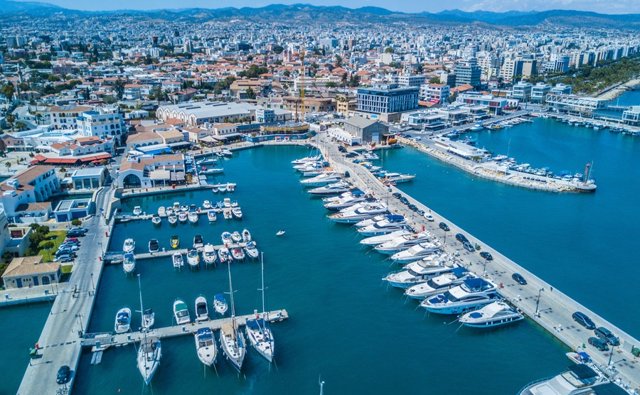 Limassol marina has a number of international offerings as well as local Cypriot food.
