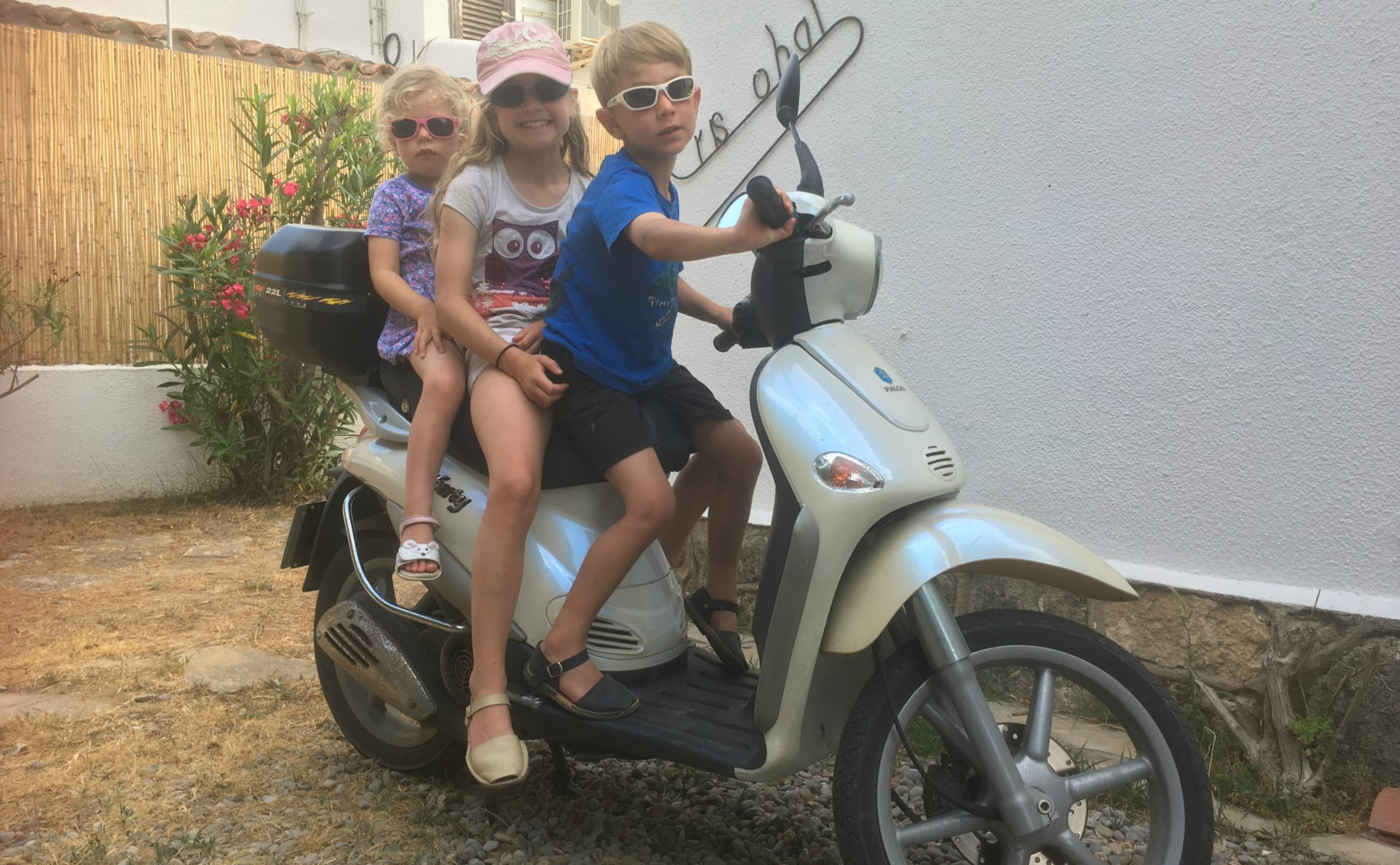 Scooter trips are a tradition for Richard's children whenever they're at their holiday trip