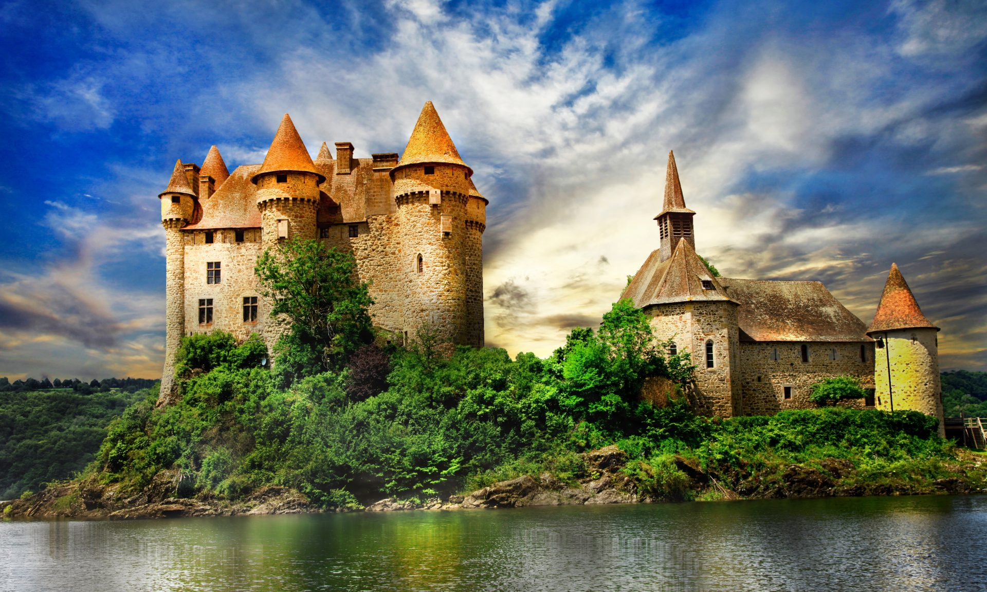 The Château de Val is a stunning 15th century 'fairy tale' castle located in Auvergne