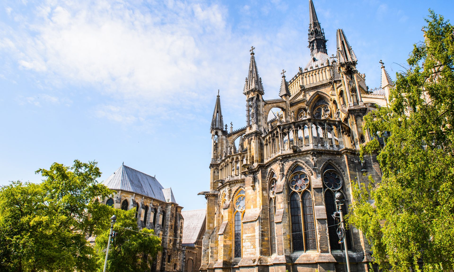 16 of France's kings were crowned in the Gothic Cathedral in Reims.