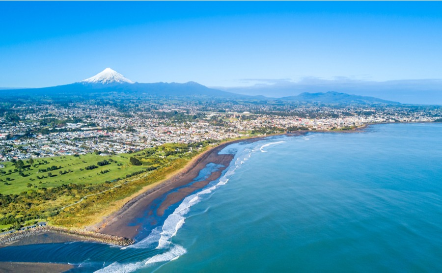 New Plymouth has easy access to miles of beautiful beaches.