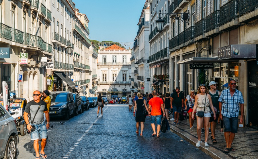 Chiado sits between the Bairro Alto and the Baixa Pombalina.