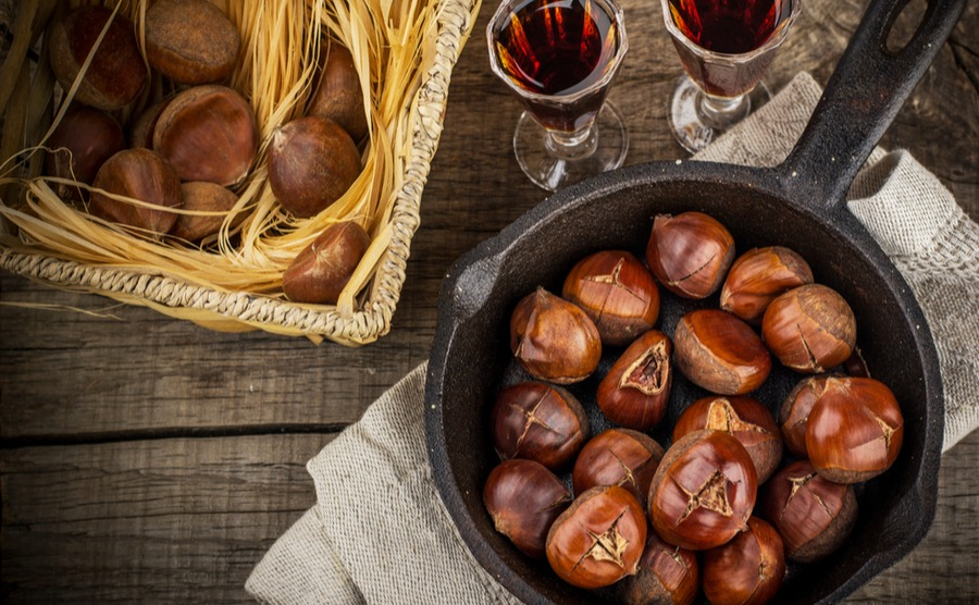 Roasted chestnuts are a typical part of a traditional winter in Portugal.