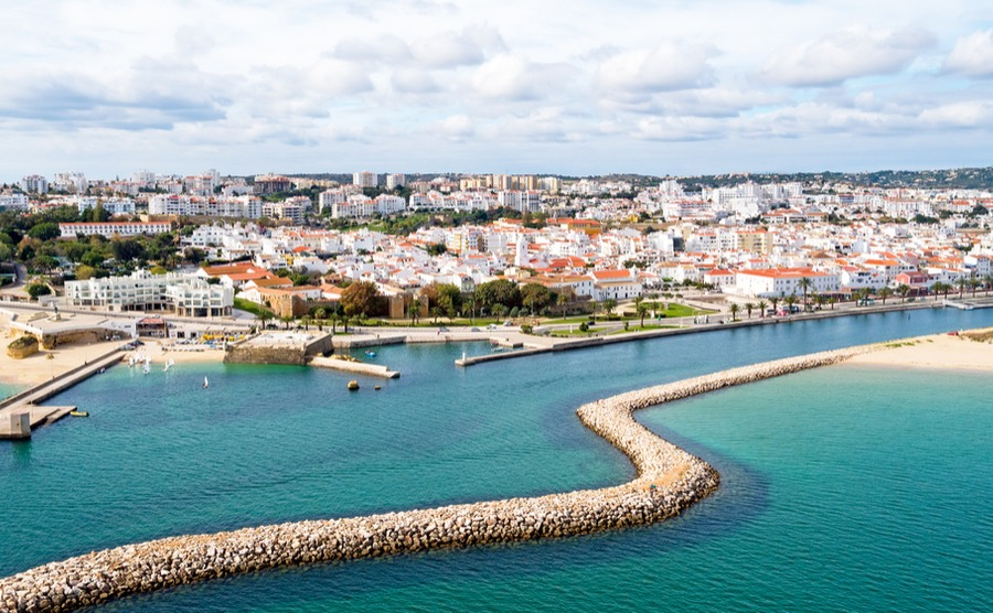 Towns like Lagos are especially popular for West Algarve property.