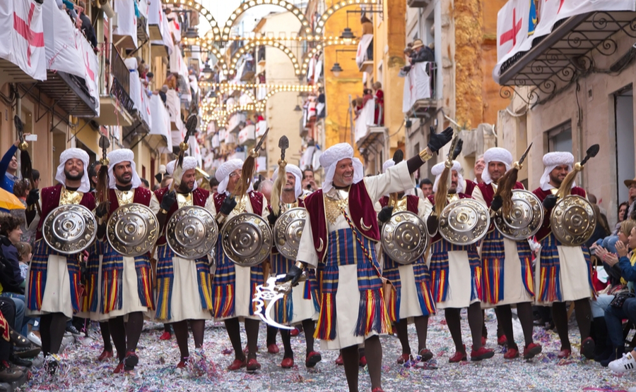 Alcoy is famous for its annual Moros y Cristianos festival.