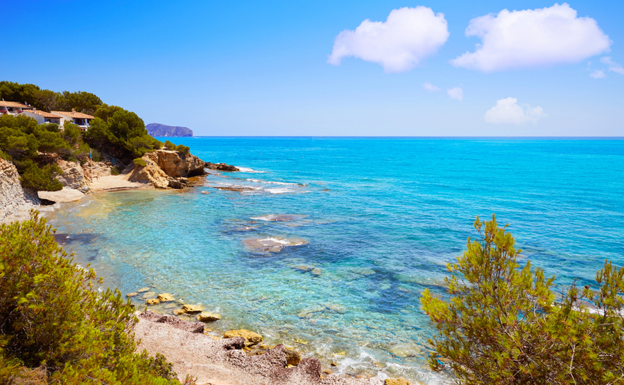 Benissa is only a short drive from beaches like Cala Pinets.