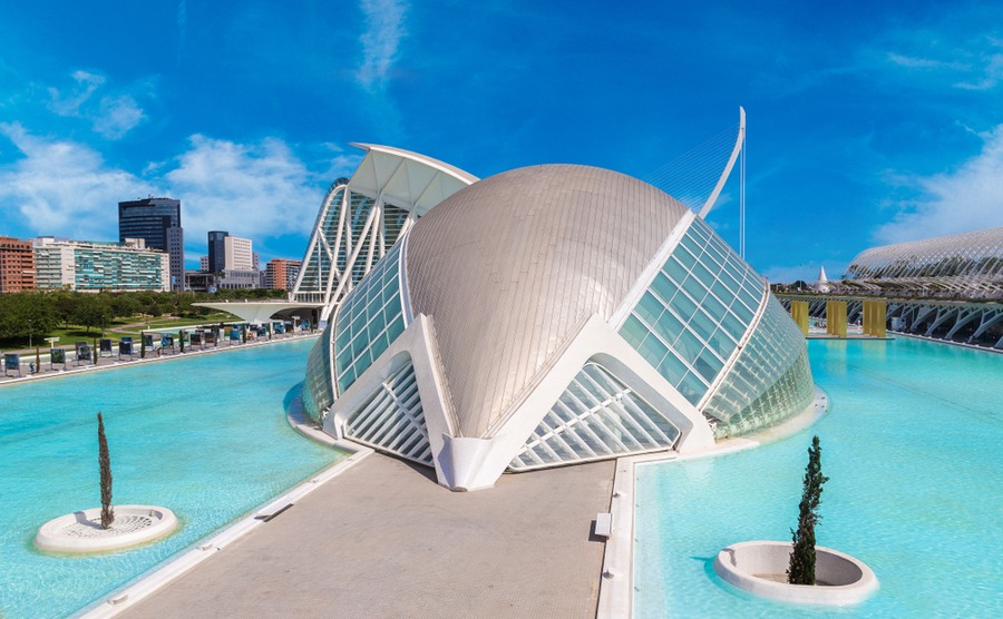 The City of Arts and Science is one of the 'Twelve Treasures of Spain'.