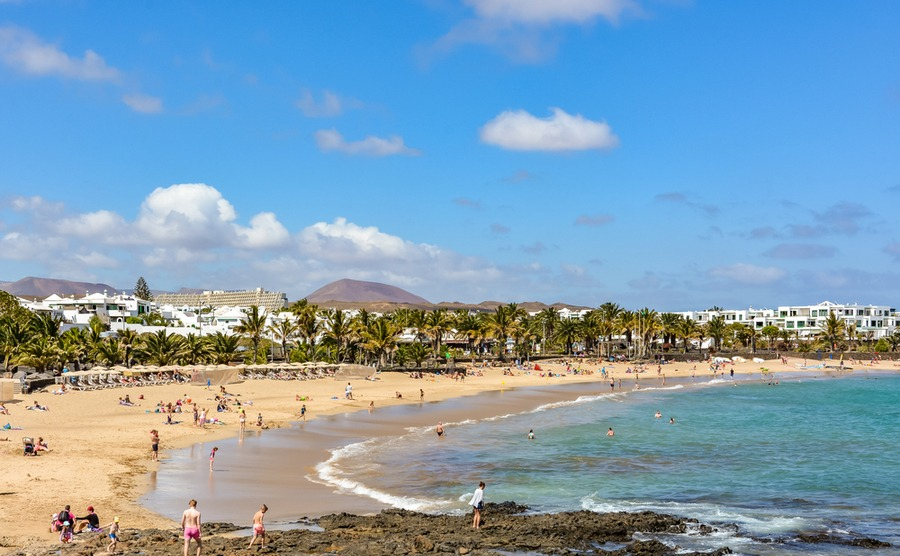 You have five beaches to choose from in Costa Teguise.