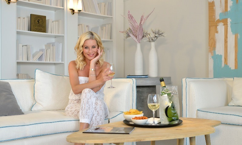 Denise van Outen Relaxing in her villa