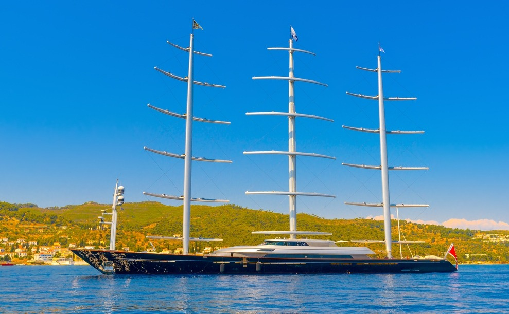 Which celebrity in the Costa Brava stayed on the Maltese Falcon?