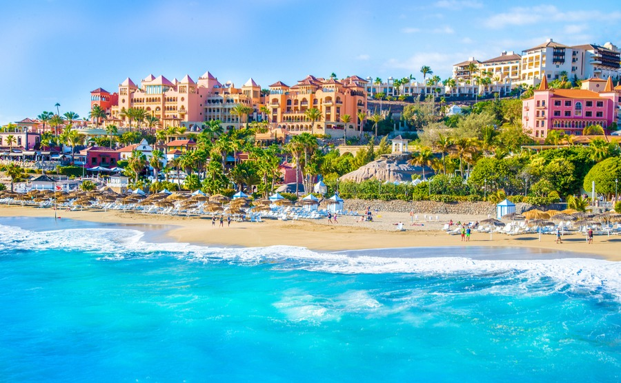 The Canary Islands enjoy 'eternal spring' – a far cry from the British climate!