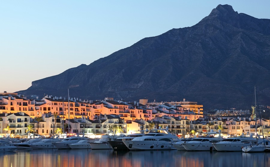 puerto-banus-at-dusk-marina-of-marbella-spain