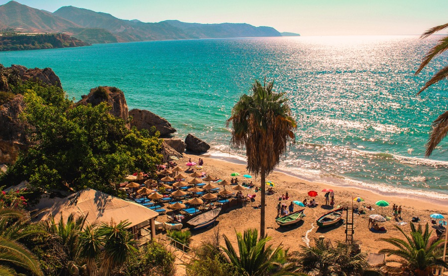 You'll find plenty of beautiful beaches around Axarquía, including here at Nerja.