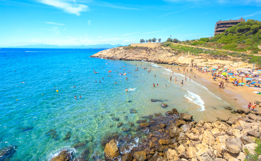 One of Salou's beautiful beaches.