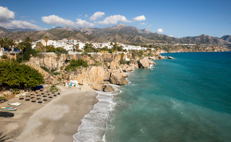 Nerja, an hour's drive from Almeria.