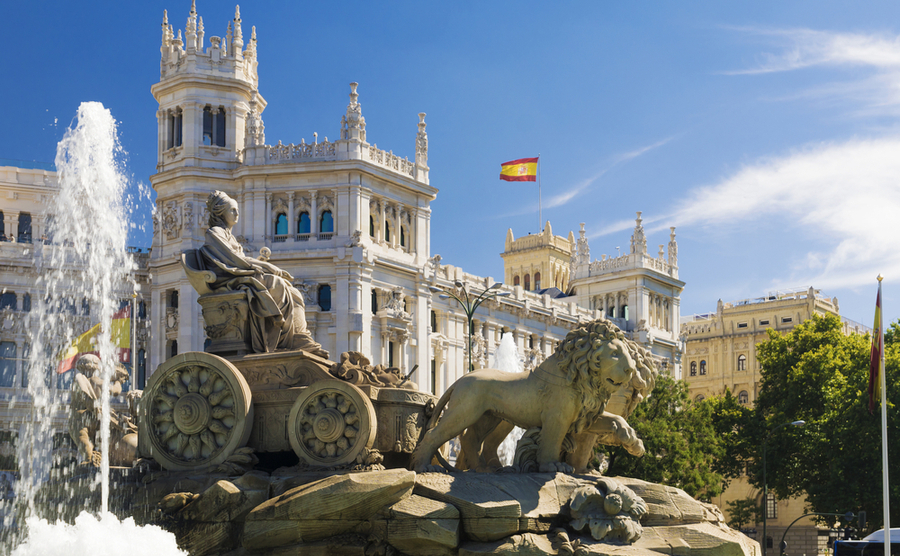 Cibeles Fountain in Madrid.