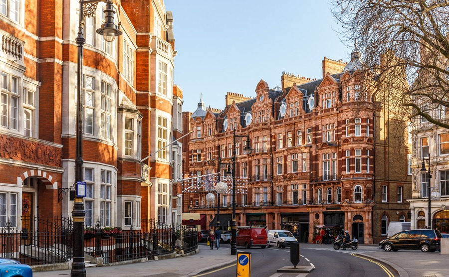 Mayfair is one of the best areas in the UK to buy property for a luxurious lifestyle.