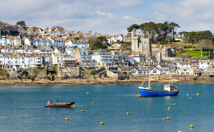 Upmarket Fowey is a hotspot for buying a house in Cornwall.