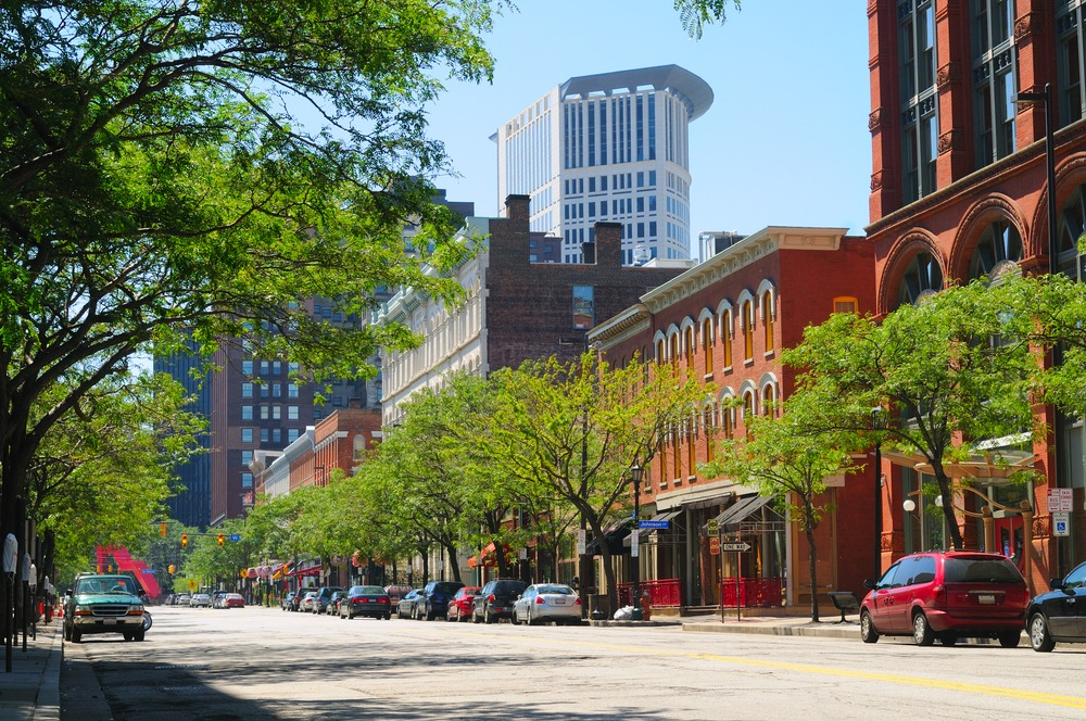 Cleveland's Warehouse District has been regenerated into one of the city's trendiest districts. The city has some of te cheapest homes in the US.