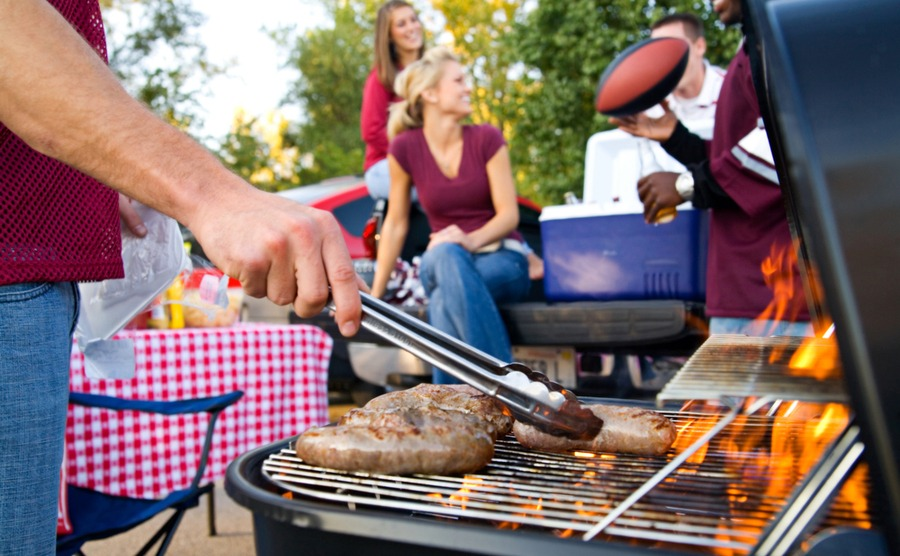 Americans love a good BBQ! A great way to meet people if you're moving to the USA as a single person.