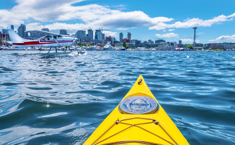 kayaking on Lake Union, if you live in Seattle