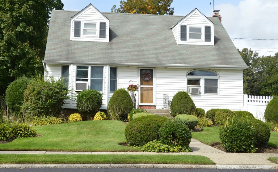The traditional Cape Cod style has also been adapted for suburban living.