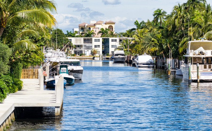 Fort Lauderdale is nicknamed the 'Venice of Florida'.