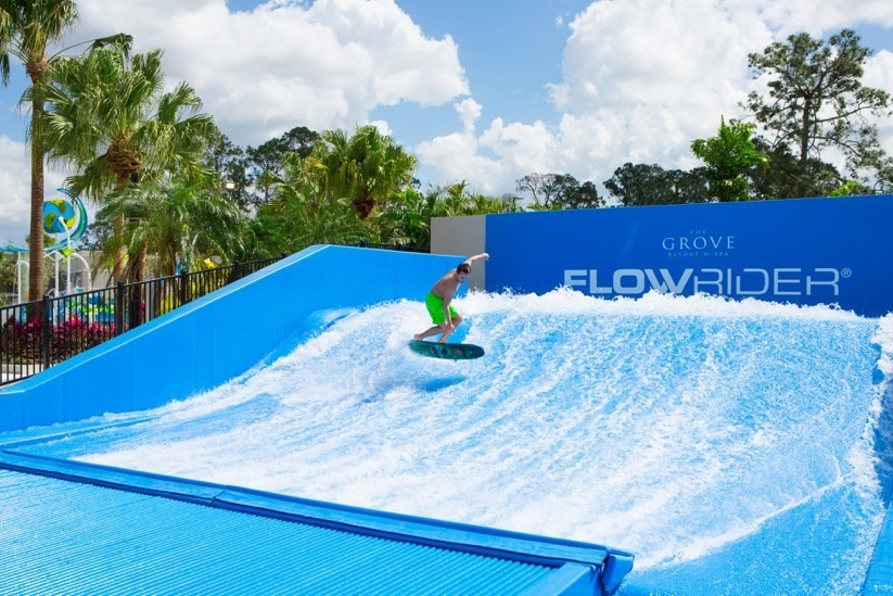 Surfing at the Grove Resort, Orlando